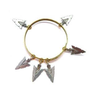 THUNDERBIRD PINON ARROWHEAD BANGLE - NEW